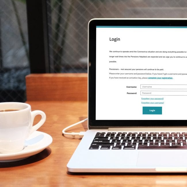 Sign up to My Pension Online
