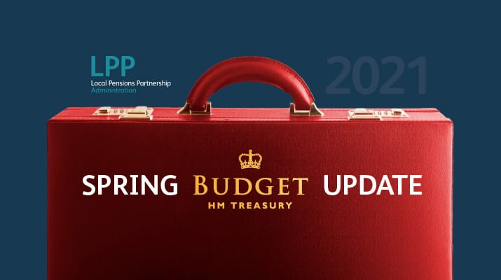 Image of Budget brief case for 2021.