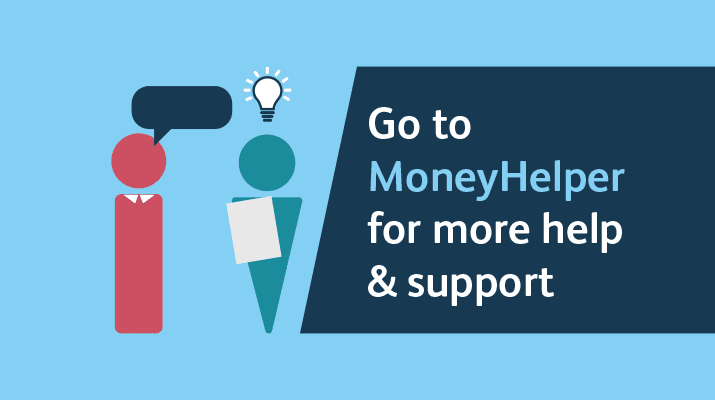 Two characters and wording about getting help and support