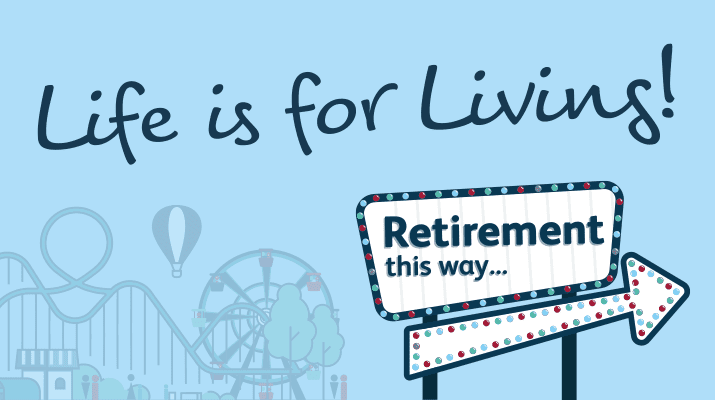 Life is for living campaign graphic